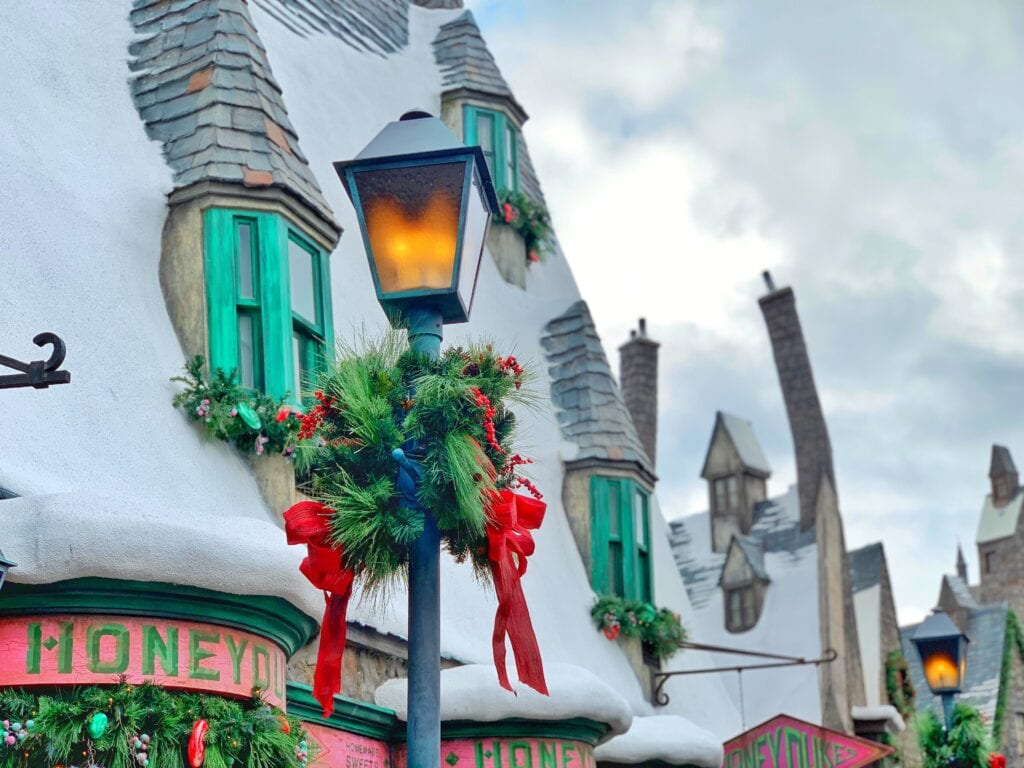 Wizarding World of Harry Potter Universal Studios Hollywood Christmas