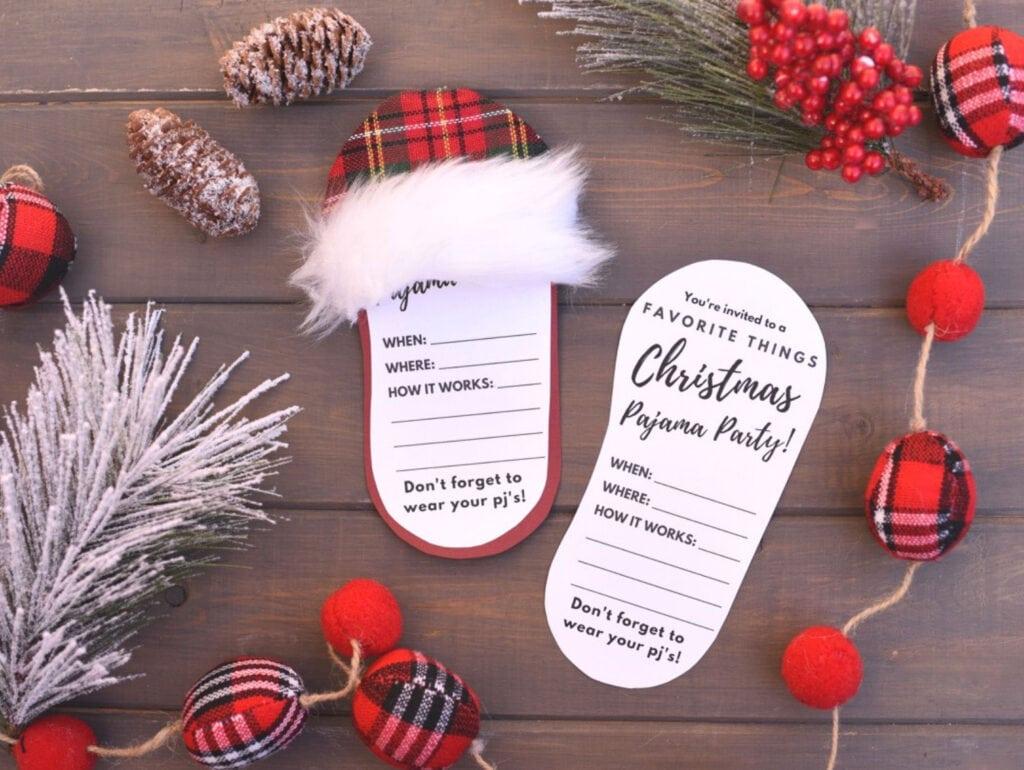 DIY pajama party invitations
