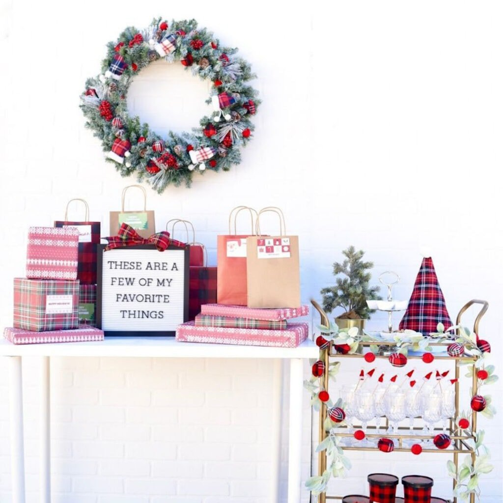Favorite things party for Christmas
