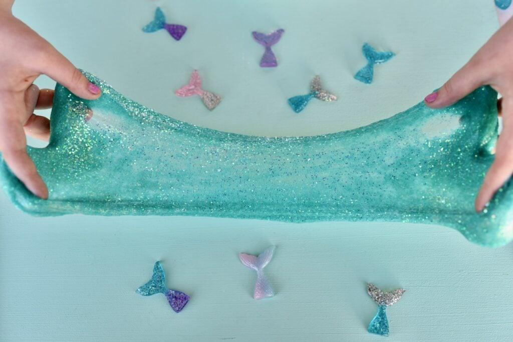Stretchy mermaid slime and resin mermaid tails