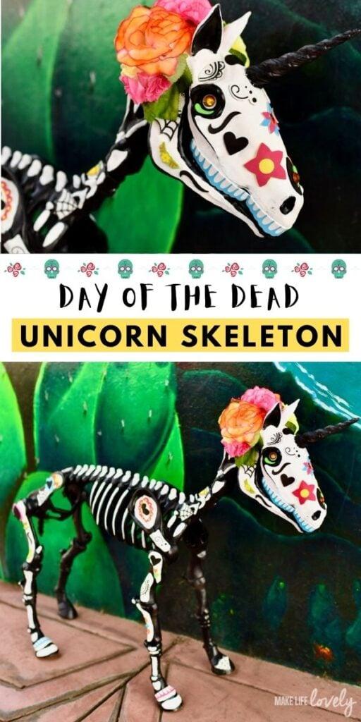 Day of the Dead unicorn skeleton DIY