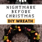 Nightmare Before Christmas wreath and white skeleton