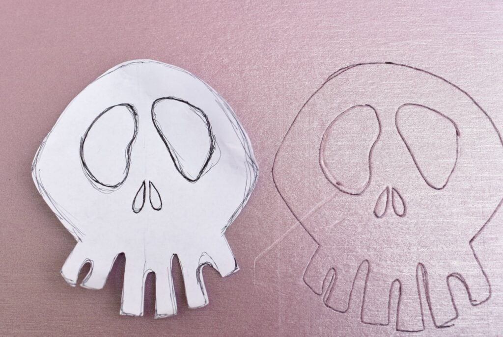 Nightmare Before Christmas wreath skull template