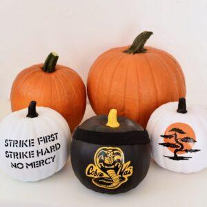 Cobra Kai Halloween pumpkins