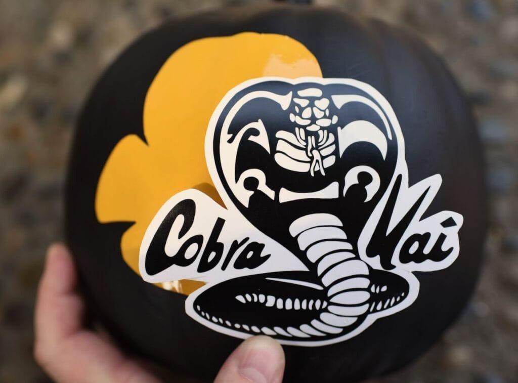 Cobra Kai vinyl logo with black pumpkin