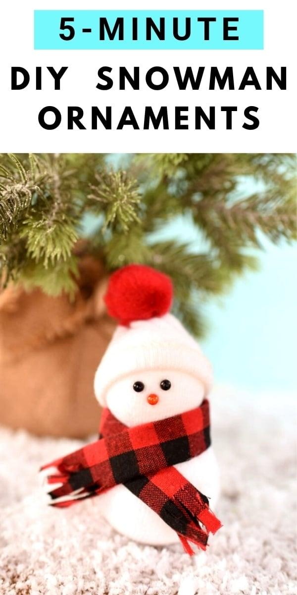 The Cutest 5 Minute Diy Snowman Ornaments Video