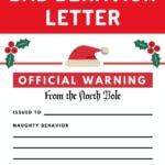 elf on the shelf bad behavior letter