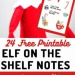 elf on the shelf holding note