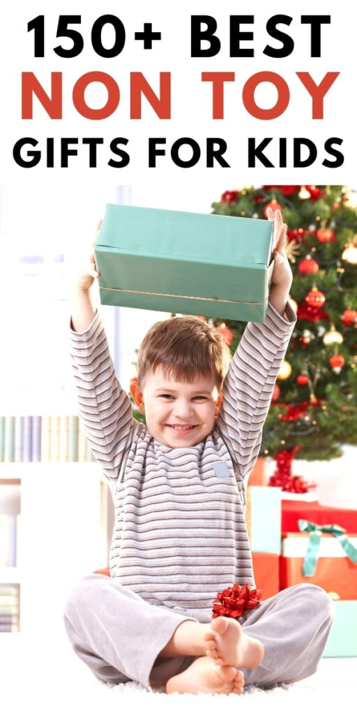 boy holding wrapped present in hands