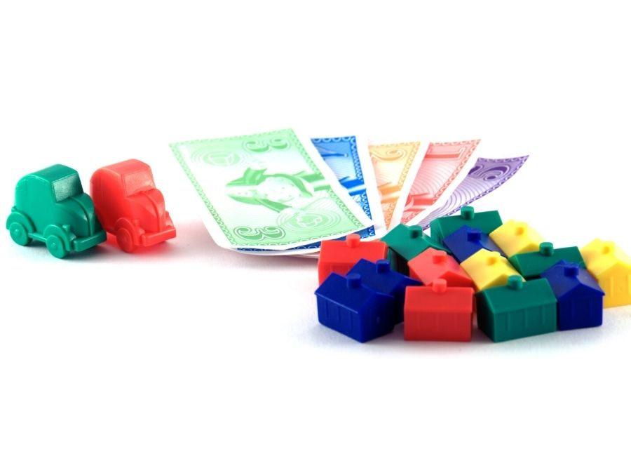 Monopoly money and houses