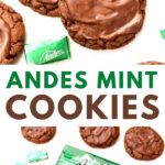 chocolate cookies and andes mints