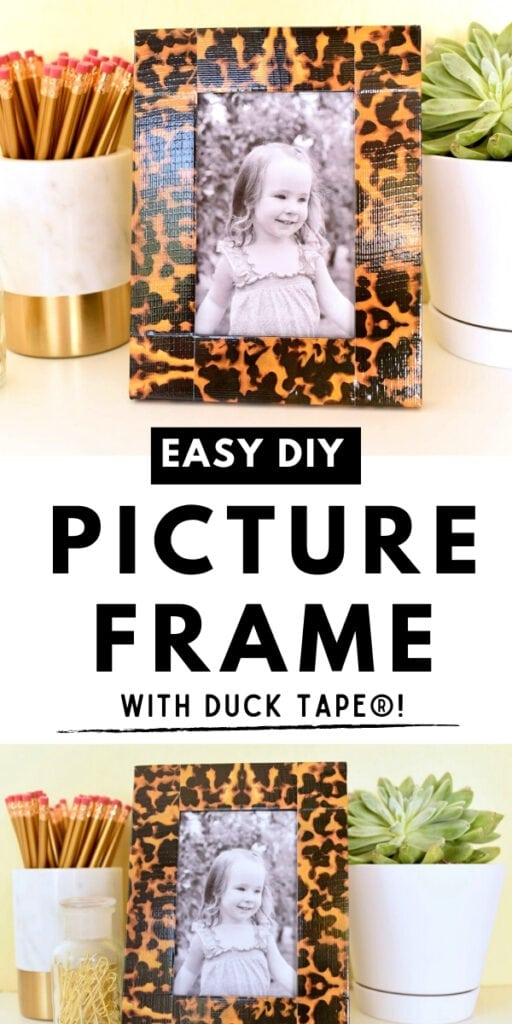 girl photograph in tortoise shell picture frame