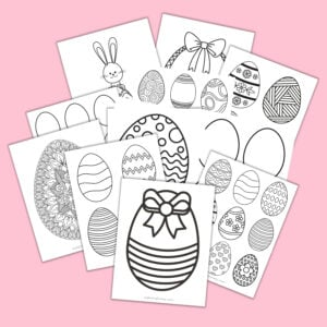 Easter egg printable pages