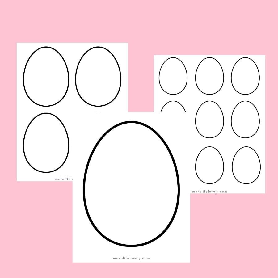 Easter egg template shapes