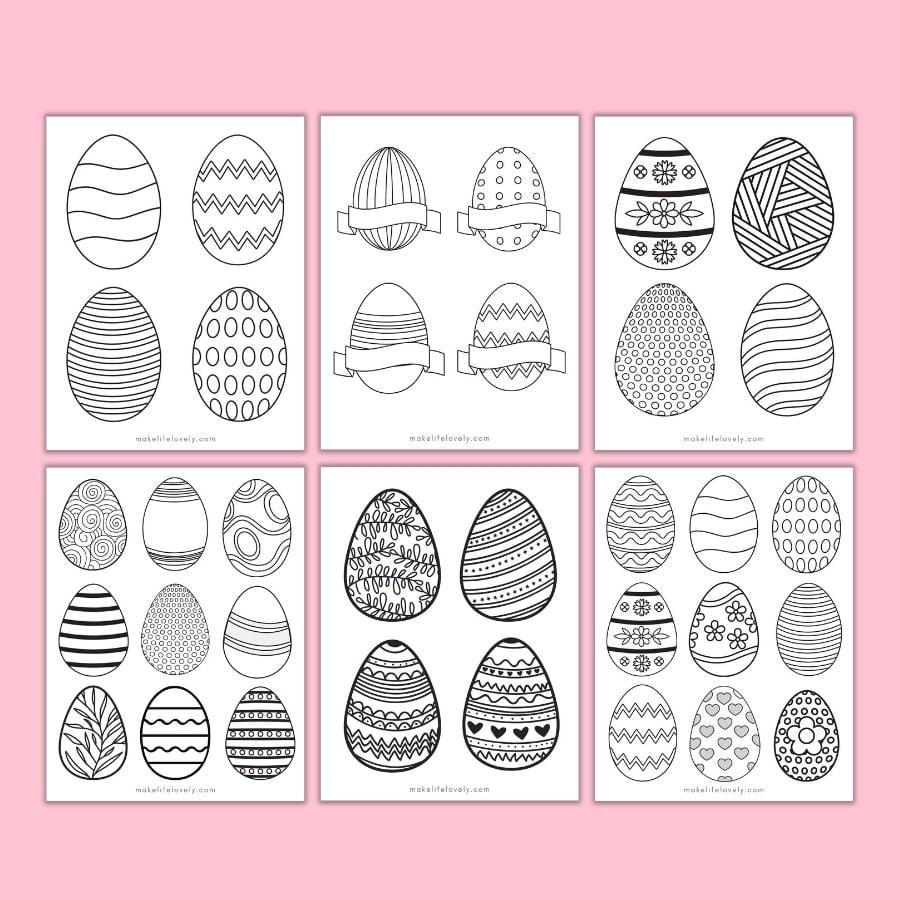Pattern Easter egg printables