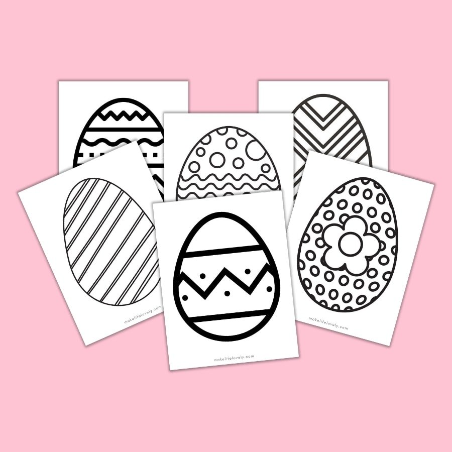 Large Easter egg printable coloring pages