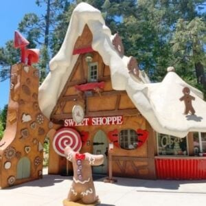 giant gingerbread house sweet shop