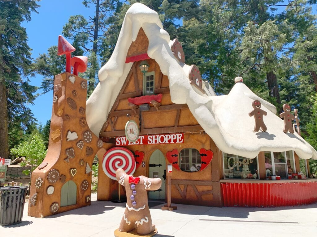 gingerbread sweet shop at Skypark at Santa's Village