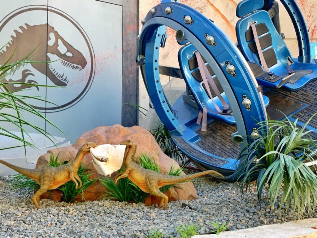 new Universal Studios Hollywood Jurassic World ride