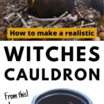 witches cauldron before and after