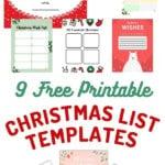 9 Christmas list template forms