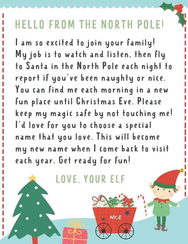 elf letter with boy elf