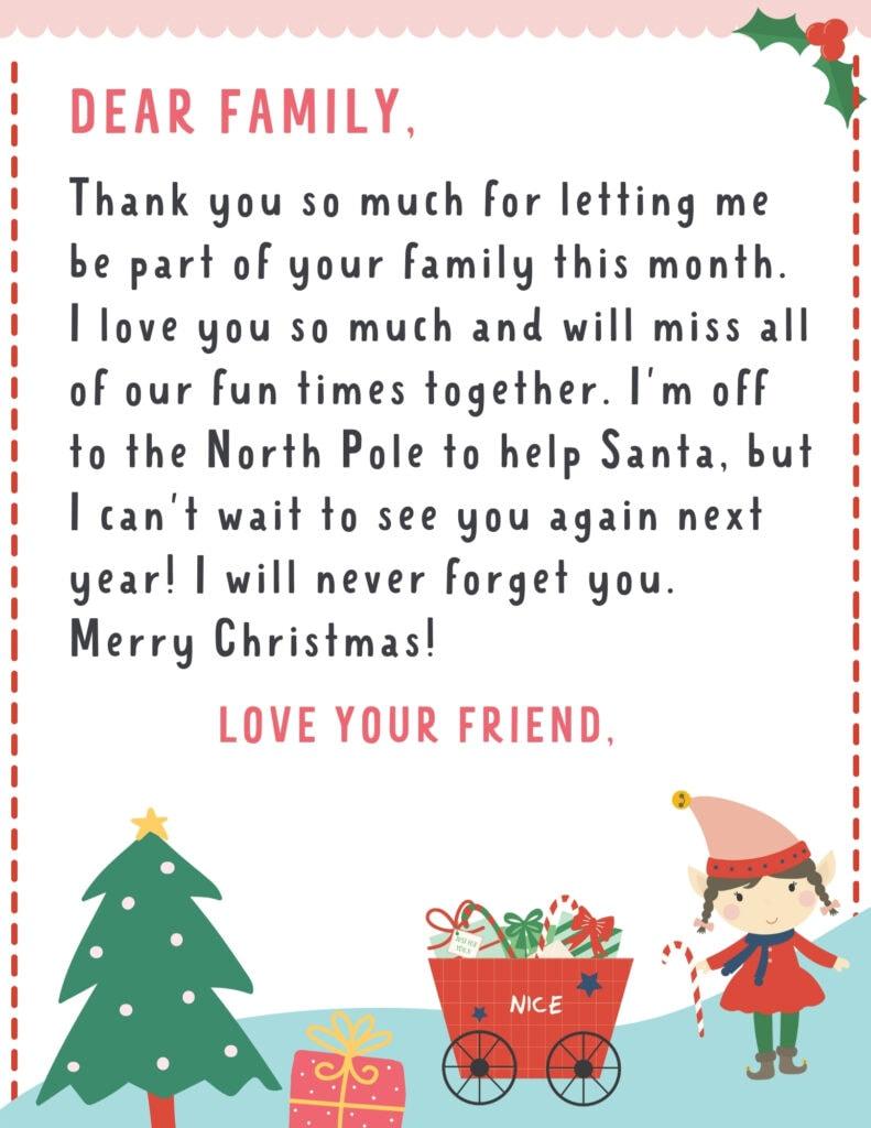 letter from girl elf